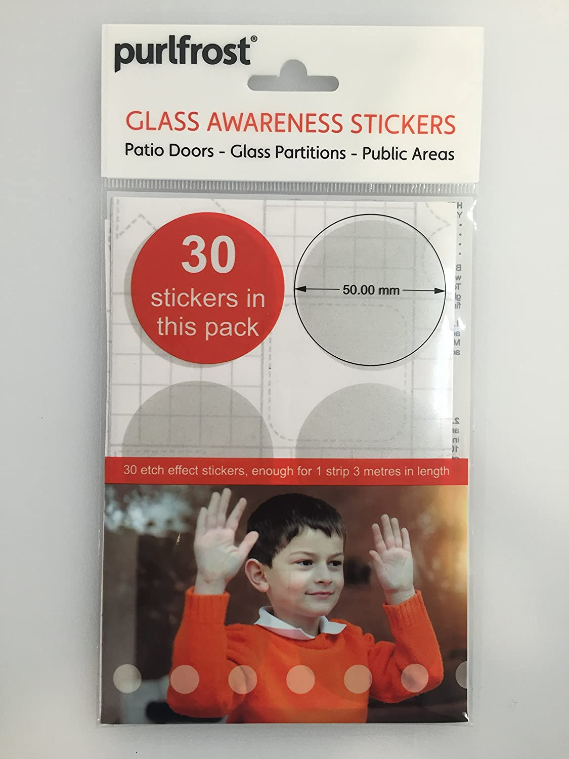 Purlfrost genuine etch effect safety stickers for glass pack of 30 circles amazon co uk kitchen home