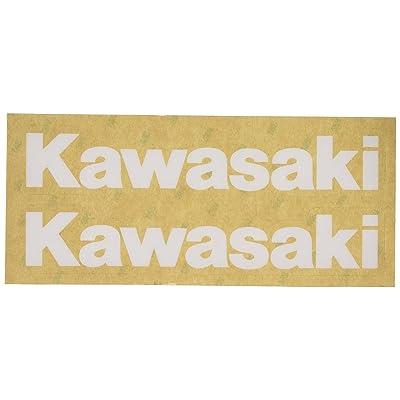 Factory Effex 09-44112 White 'Kawasaki' Universal Swing Arm Sticker: Automotive