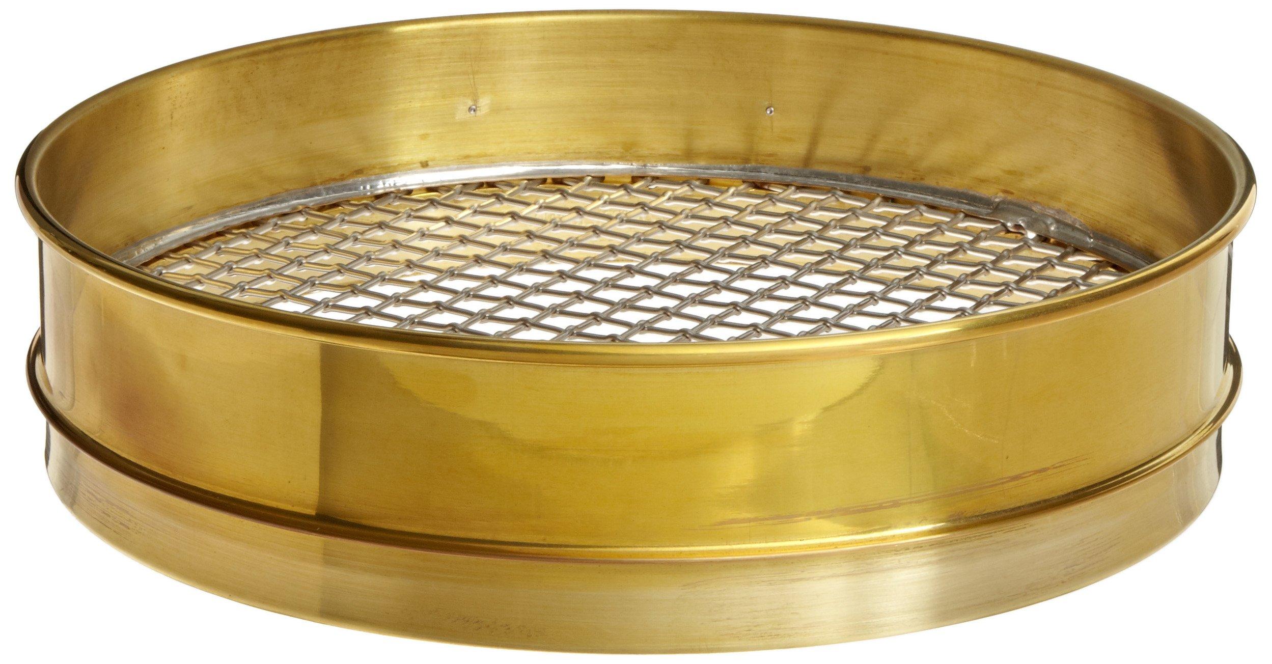 Advantech Brass Test Sieves, 12'' Diameter, 0.437'' Mesh, Intermediate Height