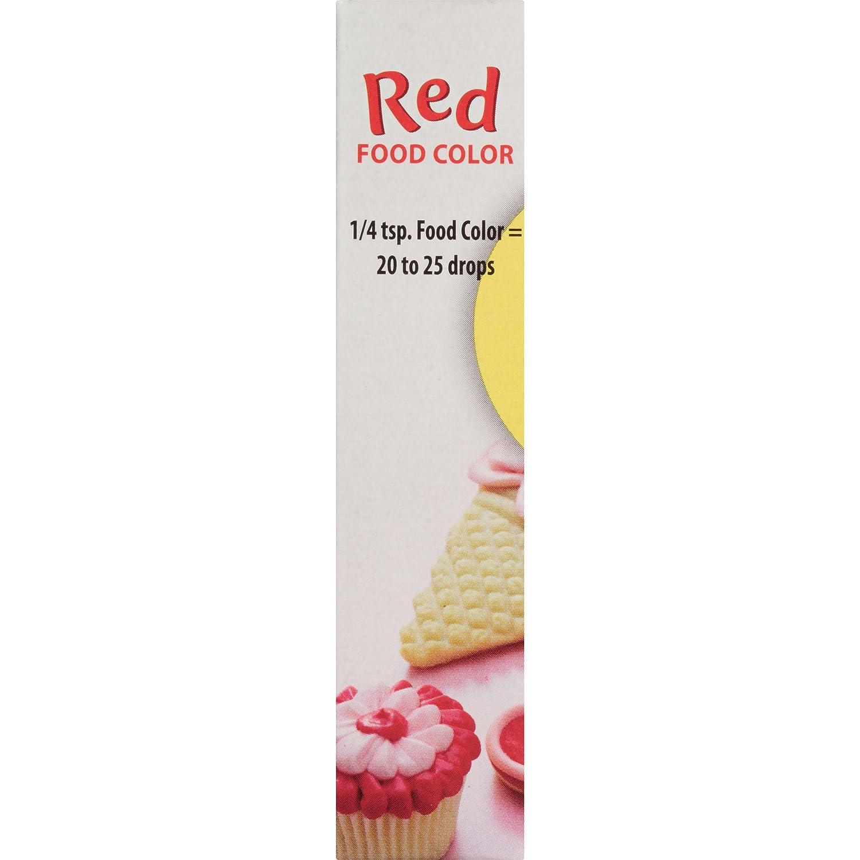 Amazon.com : McCormick Red Food Color, 1 fl oz : Food Coloring ...