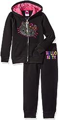 Hello Kitty Girls 2 Piece Hoodie and Pant Fleece Active Set