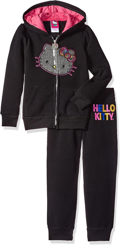 Hello Kitty Girls Fleece Sweatshirt and Jogger Pant