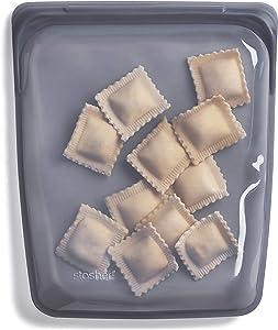 Stasher Silicone Bag, 1/2 Gallon, Ash