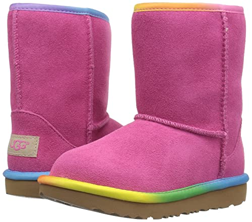 1c22e4f2400 UGG Kids T Classic Short II Rainbow Pull-on Boot
