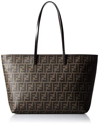 dc513ada7e Amazon.com  FENDI Zucca pattern 8BH185-00G87   F0QT2 Leather Tote Bag   Clothing