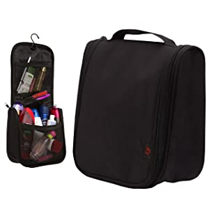 Hanging Toiletry Bag - for Men and Women   Small Hanging Makeup Bag   Toiletry Organizer   Hanging Toiletries Case   Cosmetic Bag Toiletry   Men's Travel Toiletry Bag