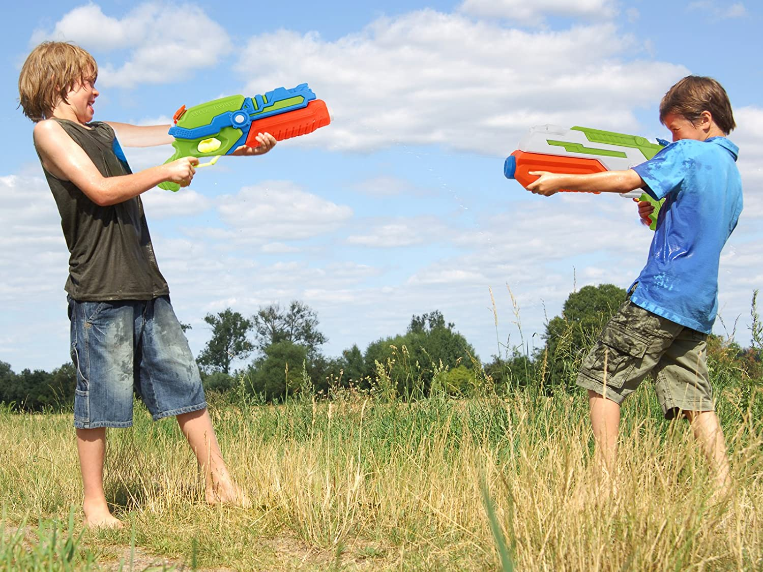 Shoots Up to 35 Ft POKONBOY 2-Pack Water Guns Water Blaster 500ml Large Capacity Squirt Gun Game Fun Far Range Party Favor Toy for Kids Summer Beach Toy