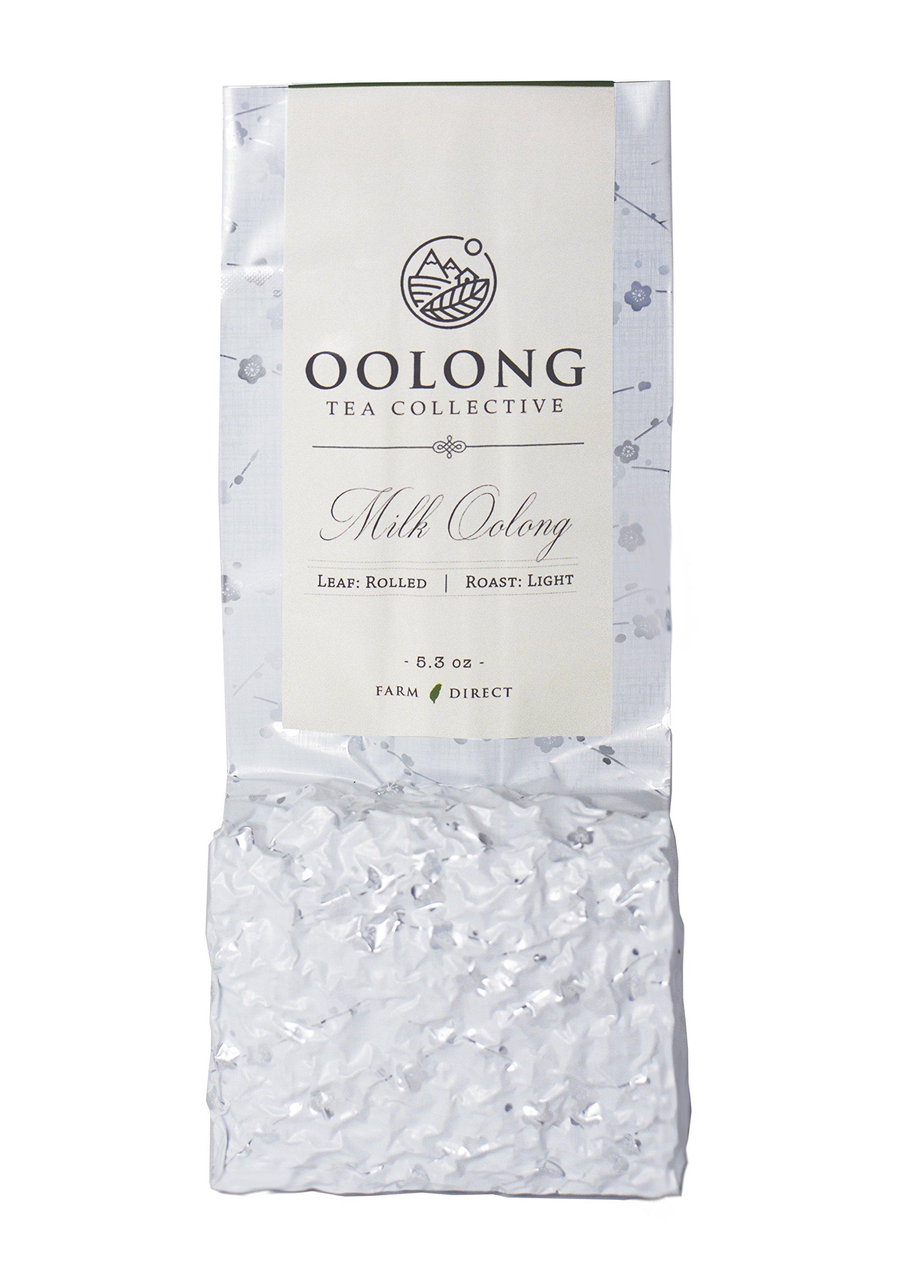 Oolong Tea Collective - JinXuan Milk Oolong Tea - 2018 Fresh Harvest - Handpicked - Natural Loose Leaf Tea - No Additives - 100% Taiwan Farm Direct (5.3oz)