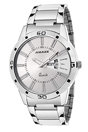 Amaze Blue Dial Day and Date Analog Watch for Men's