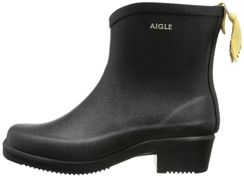 Aigle Womens Miss Juliette Bottillon Rubber Boots B0063PXWLU 8 B(M) US Women|Black