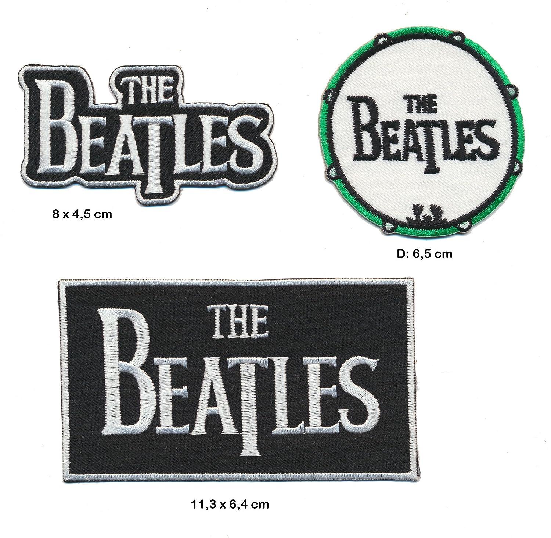 The Beatles toppa patch 3 pezzi Rock Pop Kult England Turbo spedizione Royal Garment