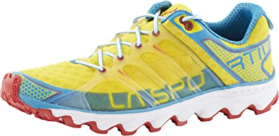 La Sportiva Helios - Zapatillas trail running para hombre - amarillo/azul Talla 43 2015: Amazon.es: Zapatos y complementos