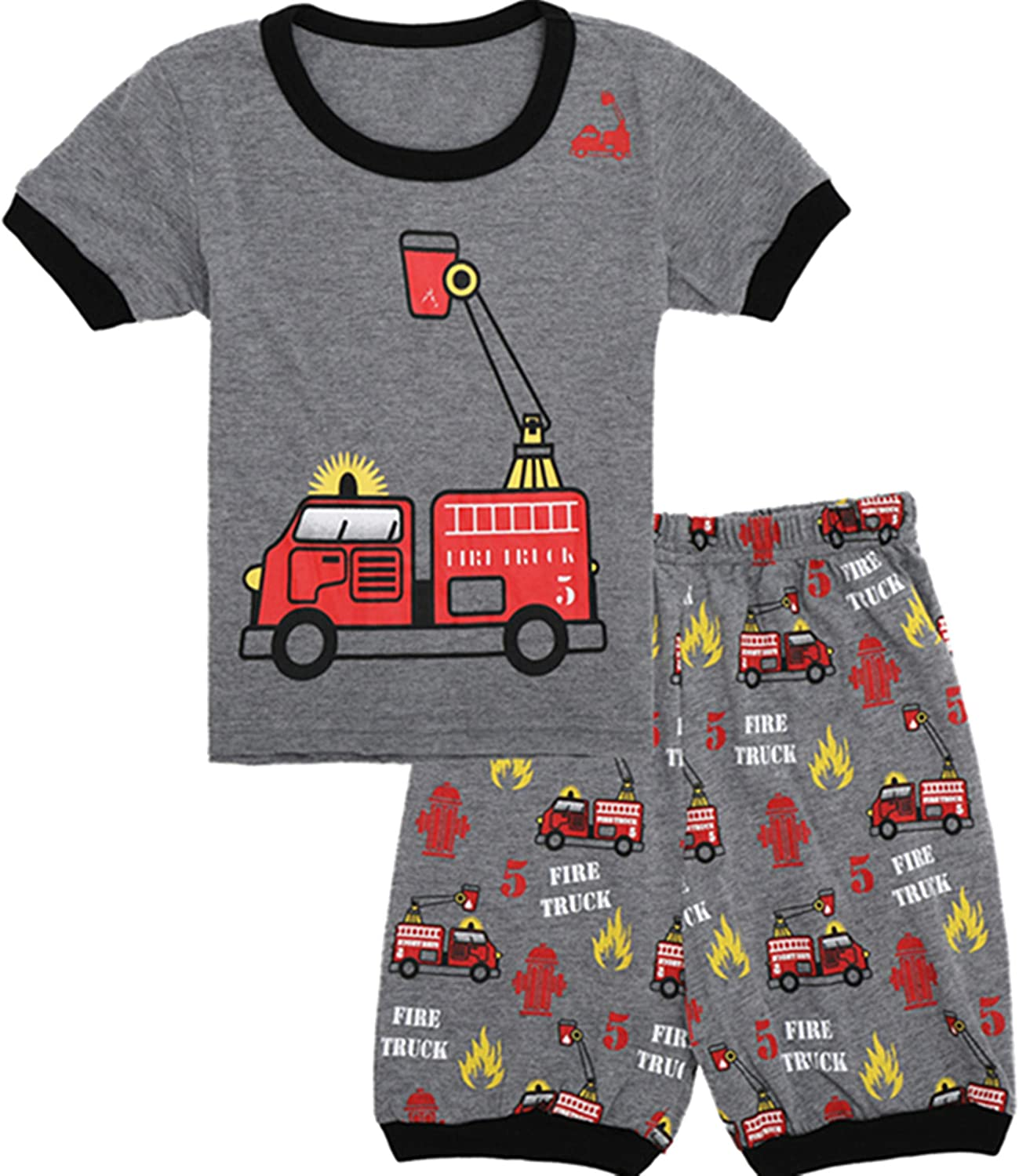 Qtake Fashion Boys Pajamas Summer Short Children Clothes Set 100/% Cotton Little Kids Pjs Sleepwear Size 12M-12Years