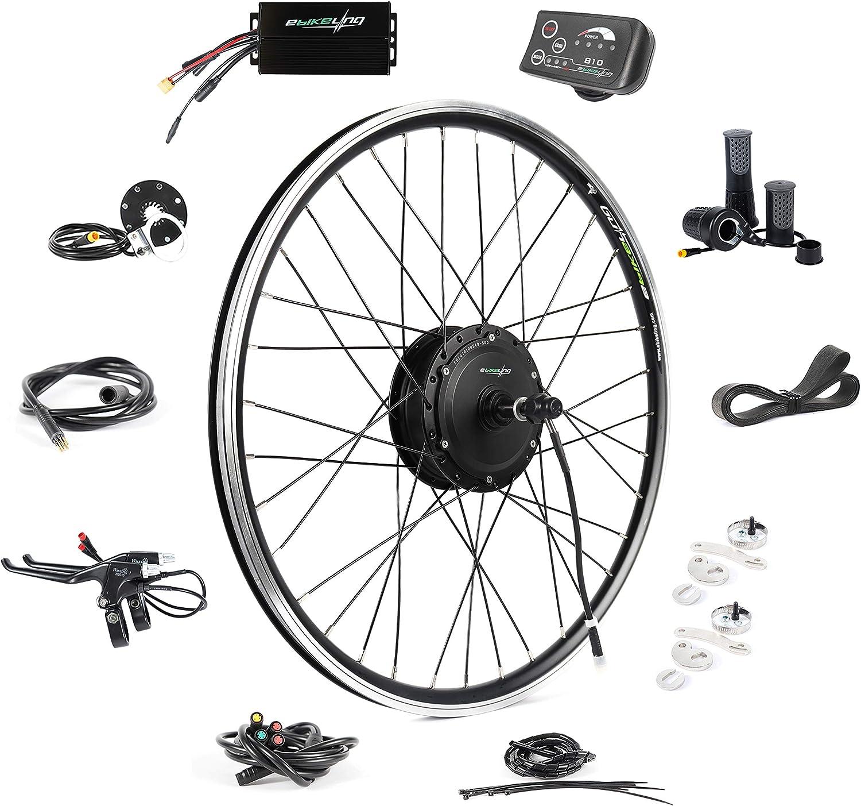 Front or Rear Wheel Electric Bike Kit Ebike Conversion Kit Electric Bike Conversion Kit EBIKELING 36V 500W 26 Geared Waterproof Electric Bike Kit