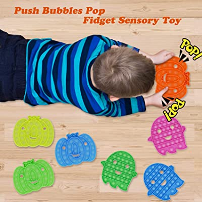 Glow in The Dark Fidget Toys Stress Relief Silicone Bubble Toy Autism ADHD Anti-Anxiety Tools for Kids and Adult ZENYULL Push Bubbles Pop Fidget Sensory Toy Ghost