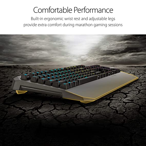 Amazon.com: ASUS TUF K5 Mechanical Membrane RGB Gaming Keyboard with Programmable Onboard Memory, Media Controls and Aura Sync RGB Lighting: Computers & ...
