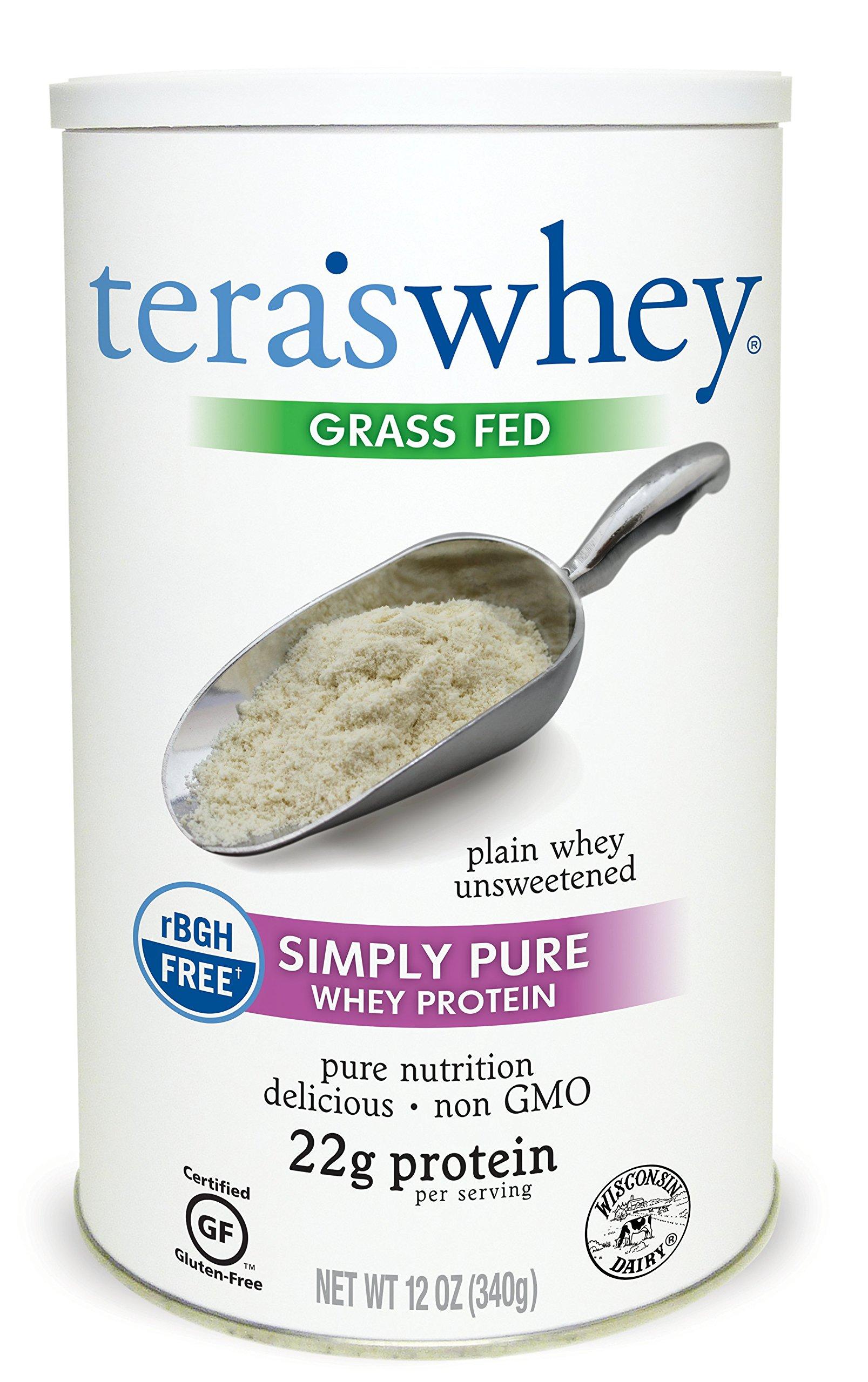 Tera's Whey Protein, Plain Unsweetened, 12 oz by teraswhey