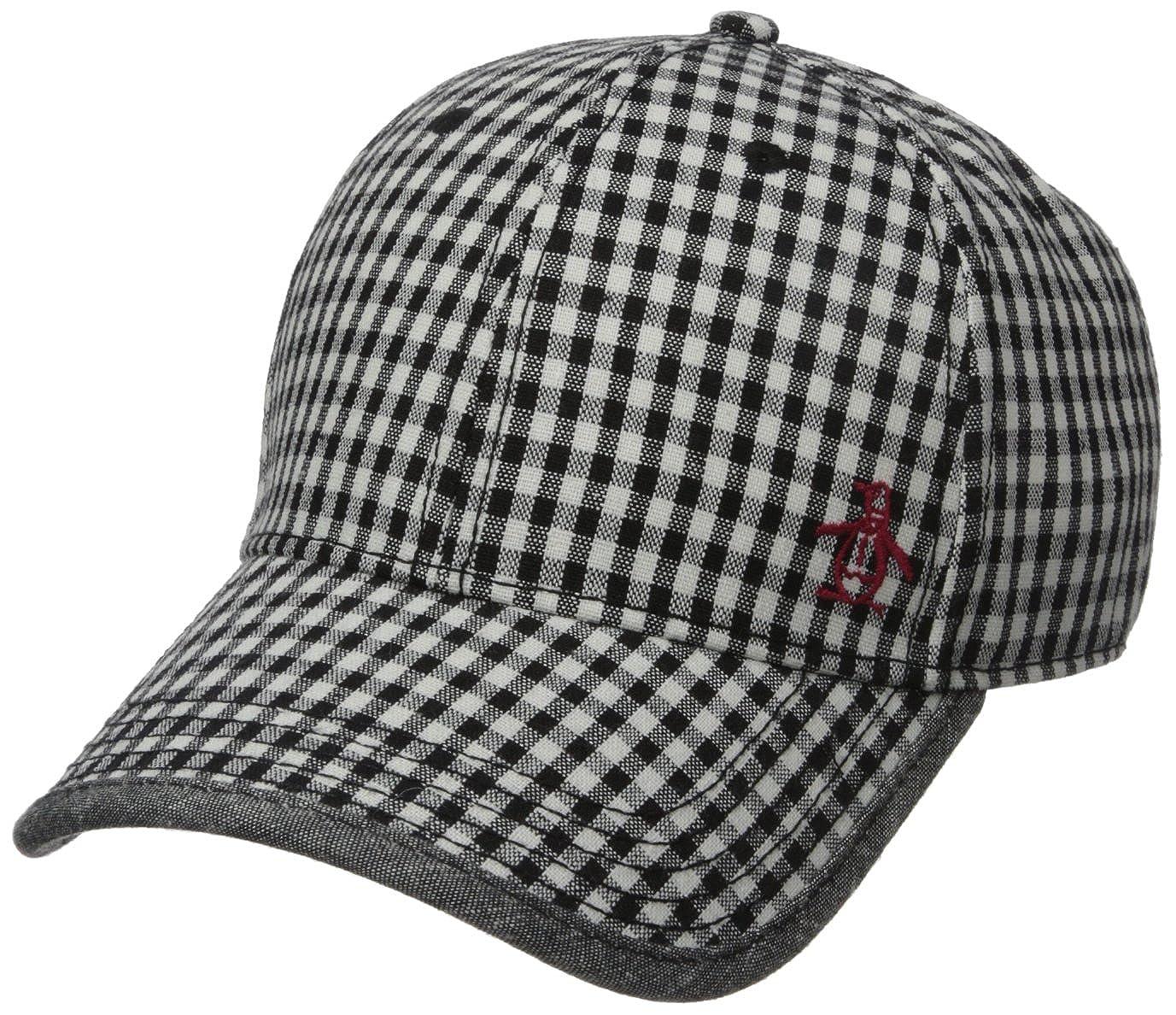 ce1a085ae9a Amazon.com: Original Penguin Men's Gingham Baseball Cap, Black One Size:  Clothing