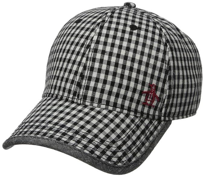 62c904c5c1e Original Penguin Men's Gingham Baseball Cap, Black, One Size: Amazon ...