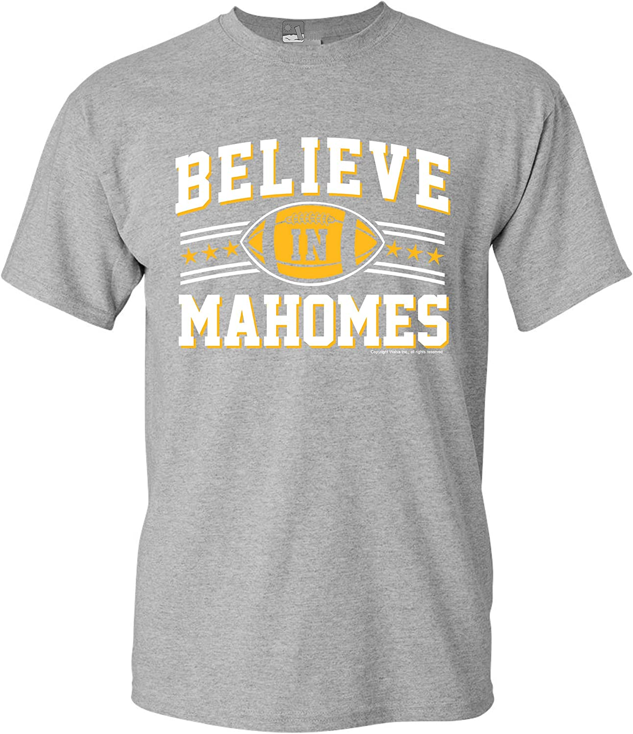 Believe in Mahomes Kansas City Football Fan Wear DT Adult T-Shirt Tee
