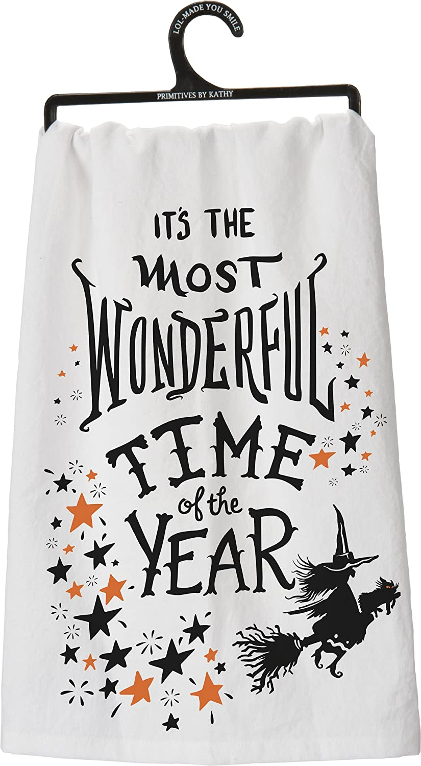 amazoncom primitives by kathy its the most wonderful time of the year halloween cotton lol towel home kitchen - Primitives By Kathy Halloween
