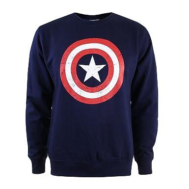 Marvel Sudadera Captain America Shield Azul Marino S