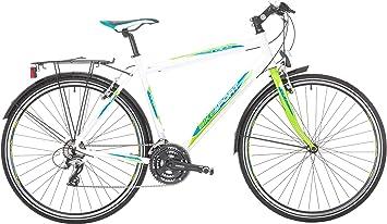 Bikesport Tempo Trek, Bicicleta híbrida Unisex Adulto, Unisex Adulto, Tempo Trek, Bianco, Large: Amazon.es: Deportes y aire libre