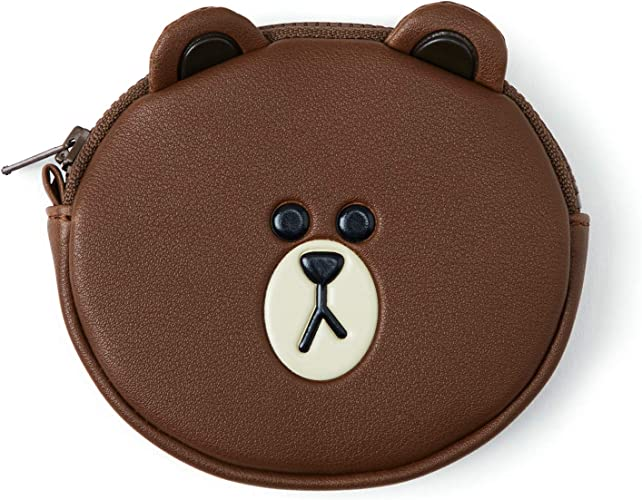 Amazon.com: LINE FRIENDS - Monedero de piel marrón, talla ...