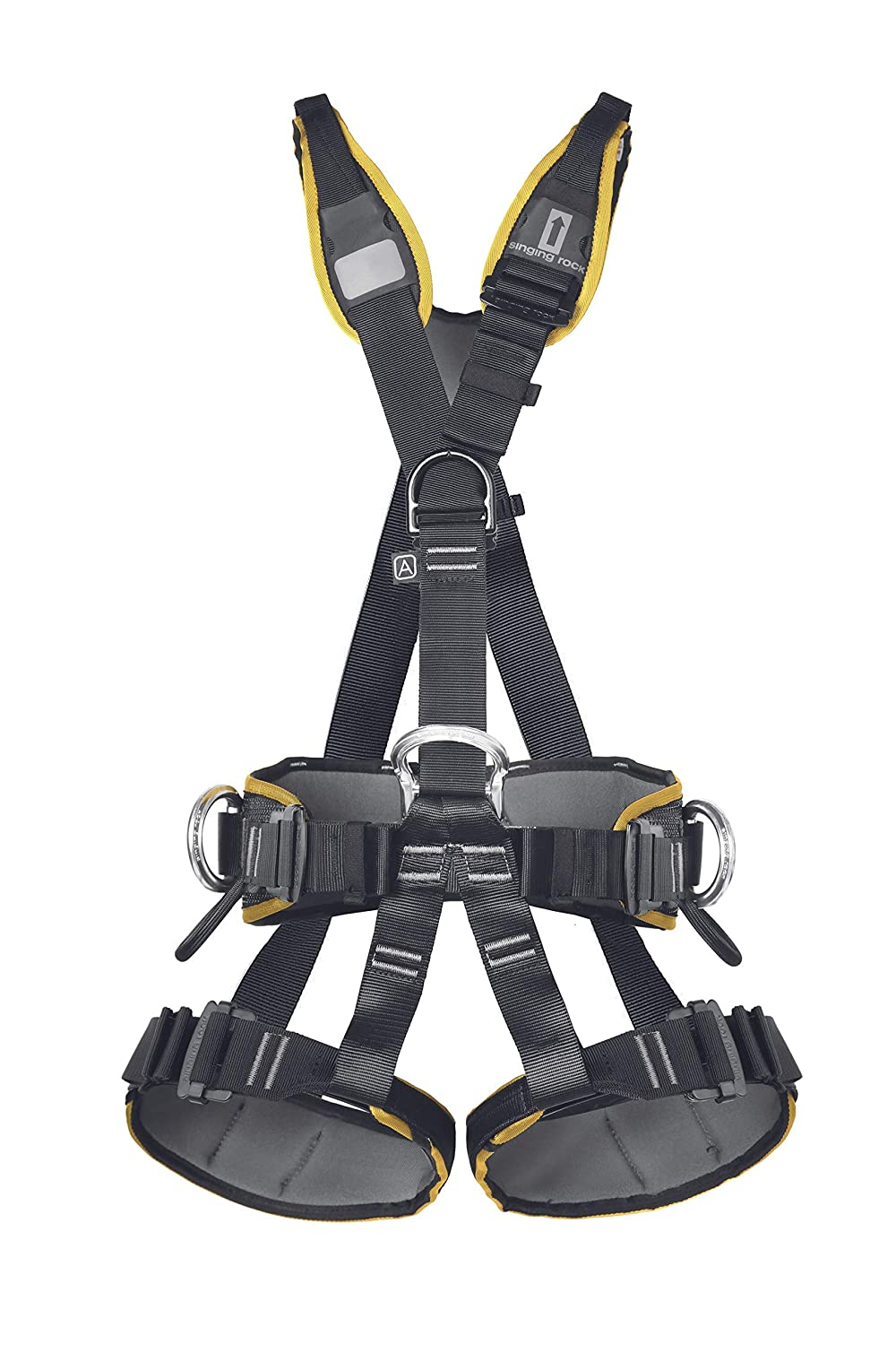 SINGING ROCK Profi Worker III Easy Lock Harness Black XL: Amazon ...