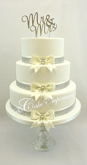 The Cake Emporium Ltd Mr Mrs Strass Décoration Gâteau De
