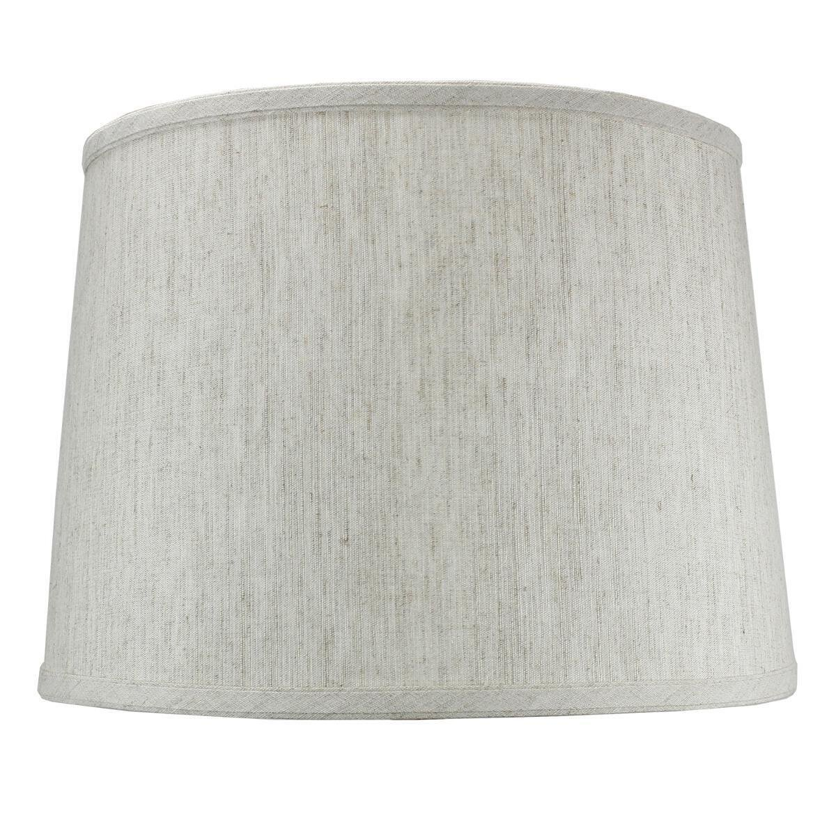 12x14x10 Textured Oatmeal Drum Lampshade Height with Brass Spider Fitter by Home Concept - Perfect for Table and Desk Lamps - Medium, Off-White