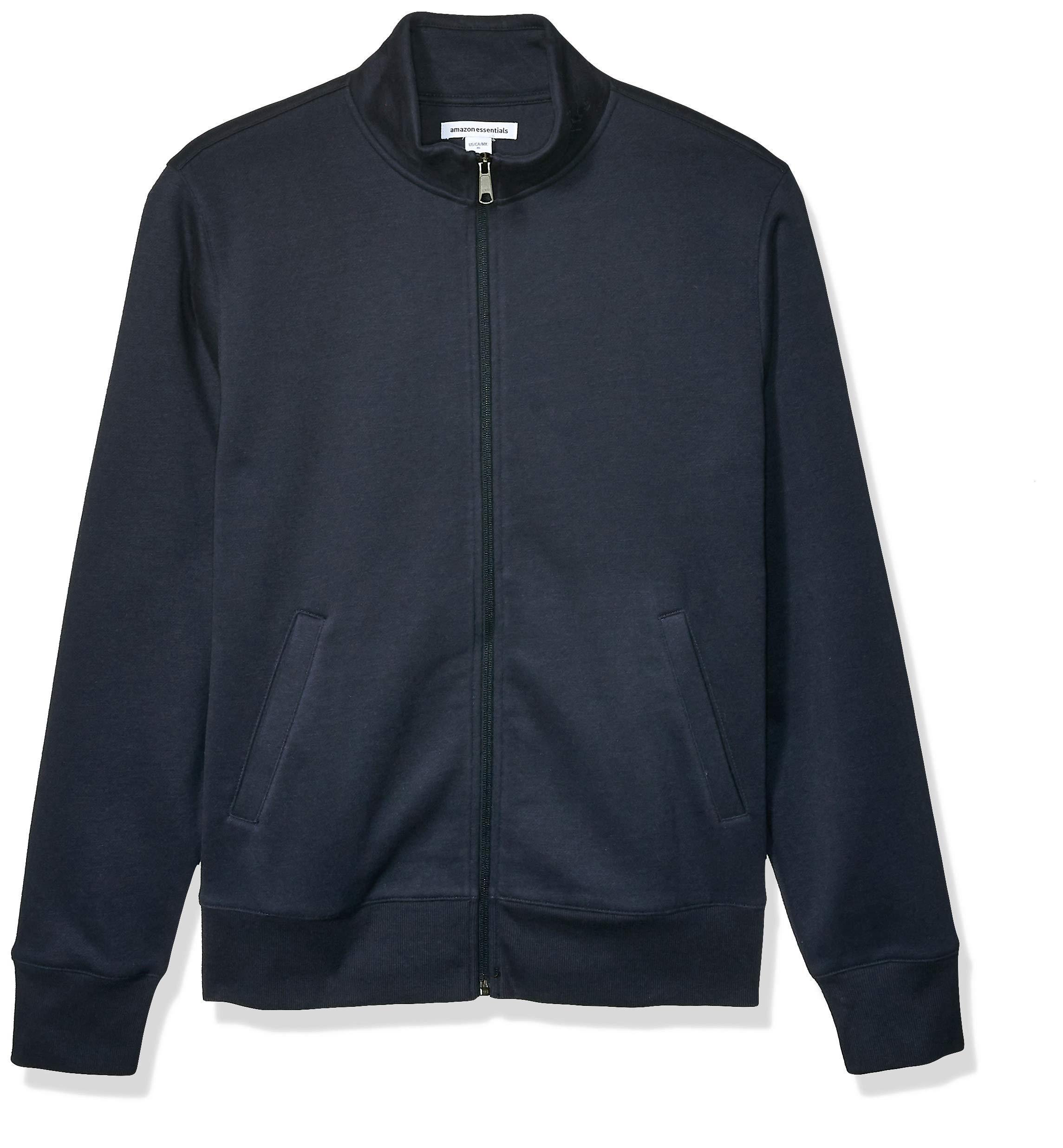 Amazon Essentials Men's Full-Zip Fleece Mock Neck Sweatshirt