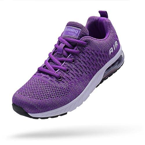 VOEN Men Women Lightweight Sport Running Sneaker Air Cushion Athletic Casual Walking Shoes