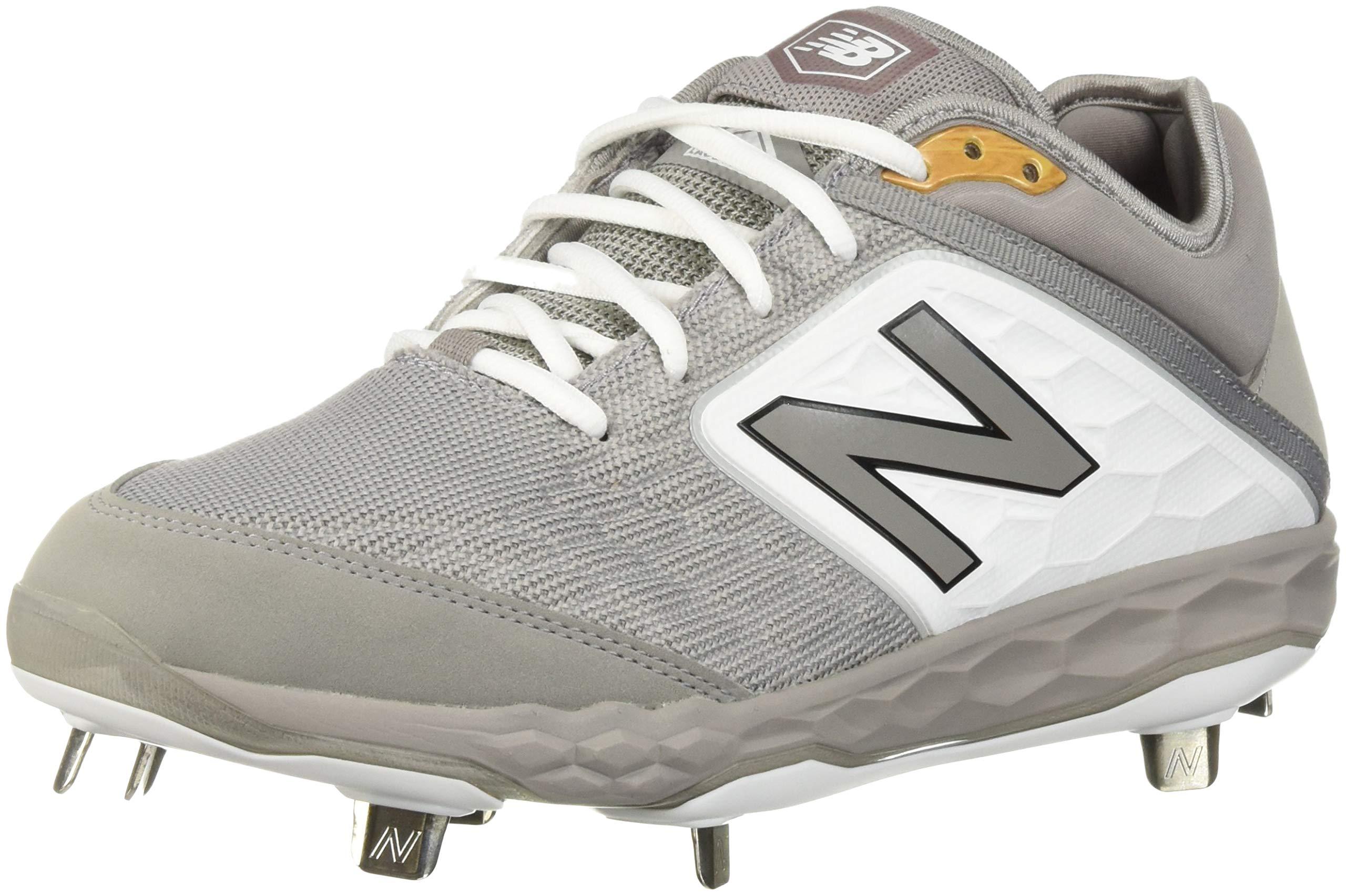New Balance Men's 3000v4 Baseball Shoe, Grey/White, 5 D US