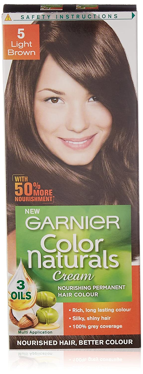 Garnier Color Naturals Shade 5 Light Brown, 70ml + 40g: Amazon.in ...