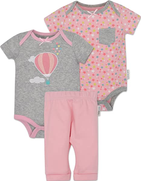 Amazon Com Cherokee Baby Girls Bodysuits And Pants Set Hot Air