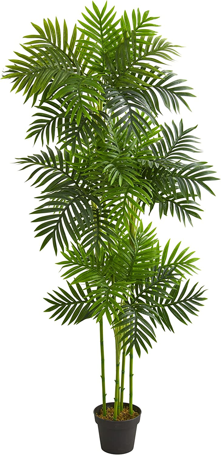 Nearly Natural 6' Phoenix Palm Tree Artificial Plant, Green