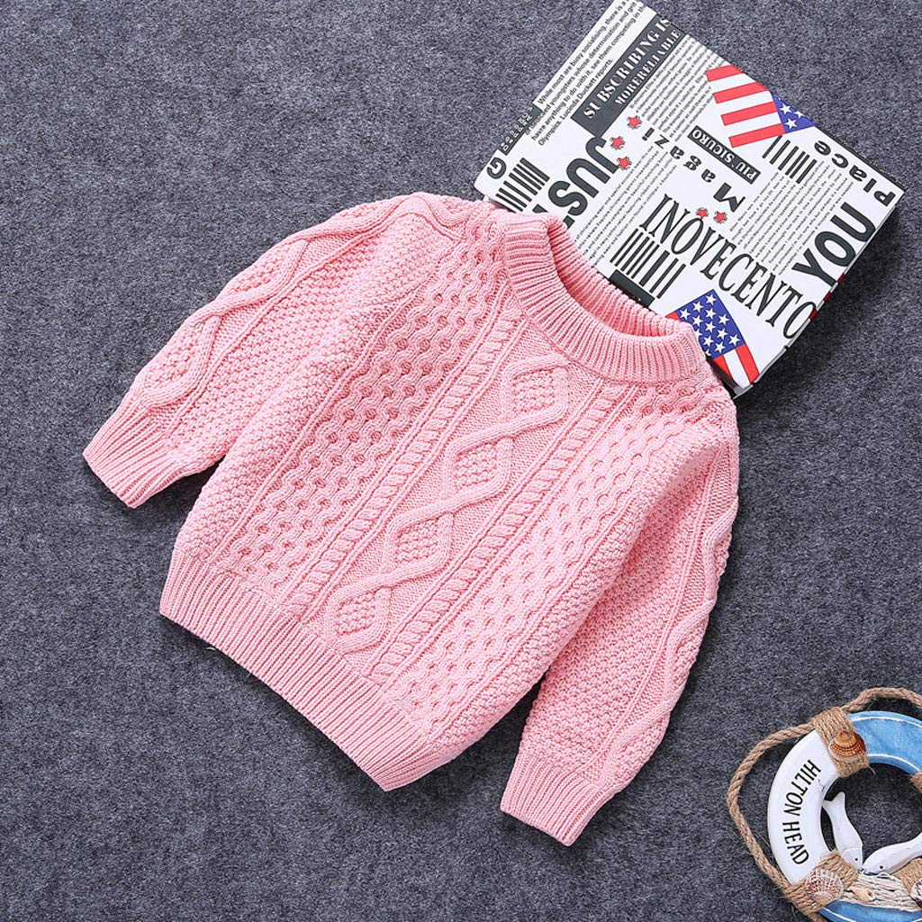 BCVHGD Autumn Winter Cotton Sweater Top Baby Children Clothing Girls Boys Pullovers Plush Knitted Sweater Kids