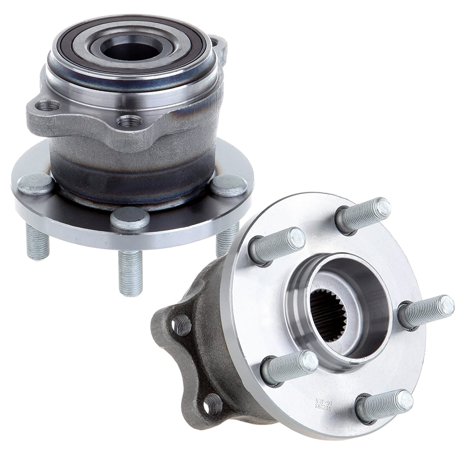 ECCPP Replacement fit for 2 Pcs New Rear Wheel Hub Bearing Assembly 2005-2009 Legacy Outback 5 Lugs W//ABS 512293 X 2