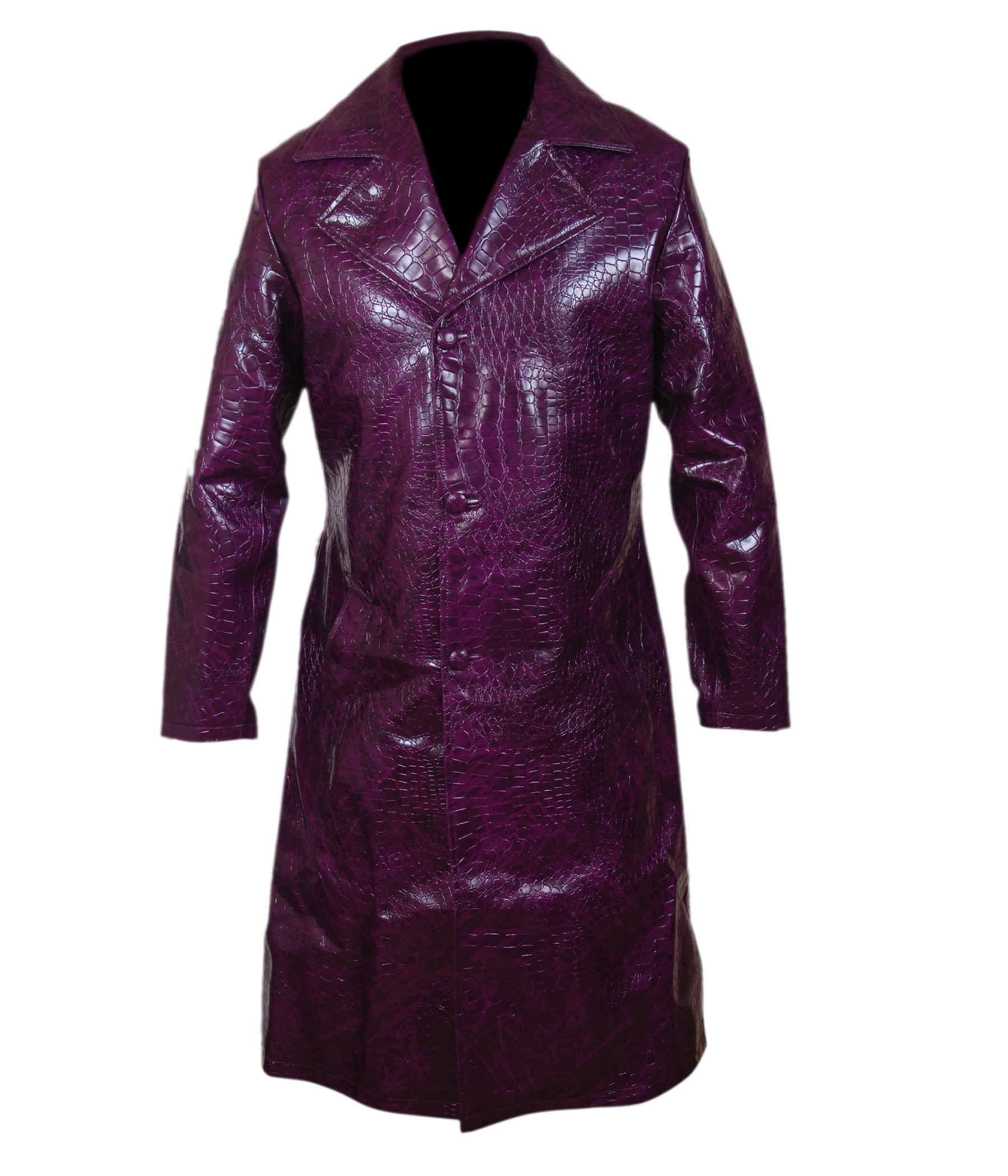 F&H Boy's Suicide Squad Jared Leto Joker Purple Long Coat S Purple