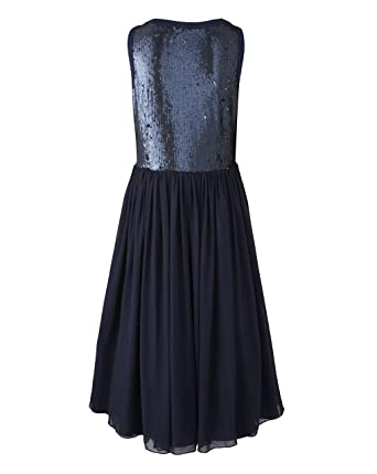 Simply Be Womens Sequin Prom Dress Navy Blue, 12