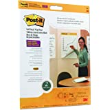 Post-it Super Sticky Wall Easel Pad, 20 x 23 Inches, 20 Sheets/Pad, 2 Pads (566), Portable White Premium Self Stick Flip Char