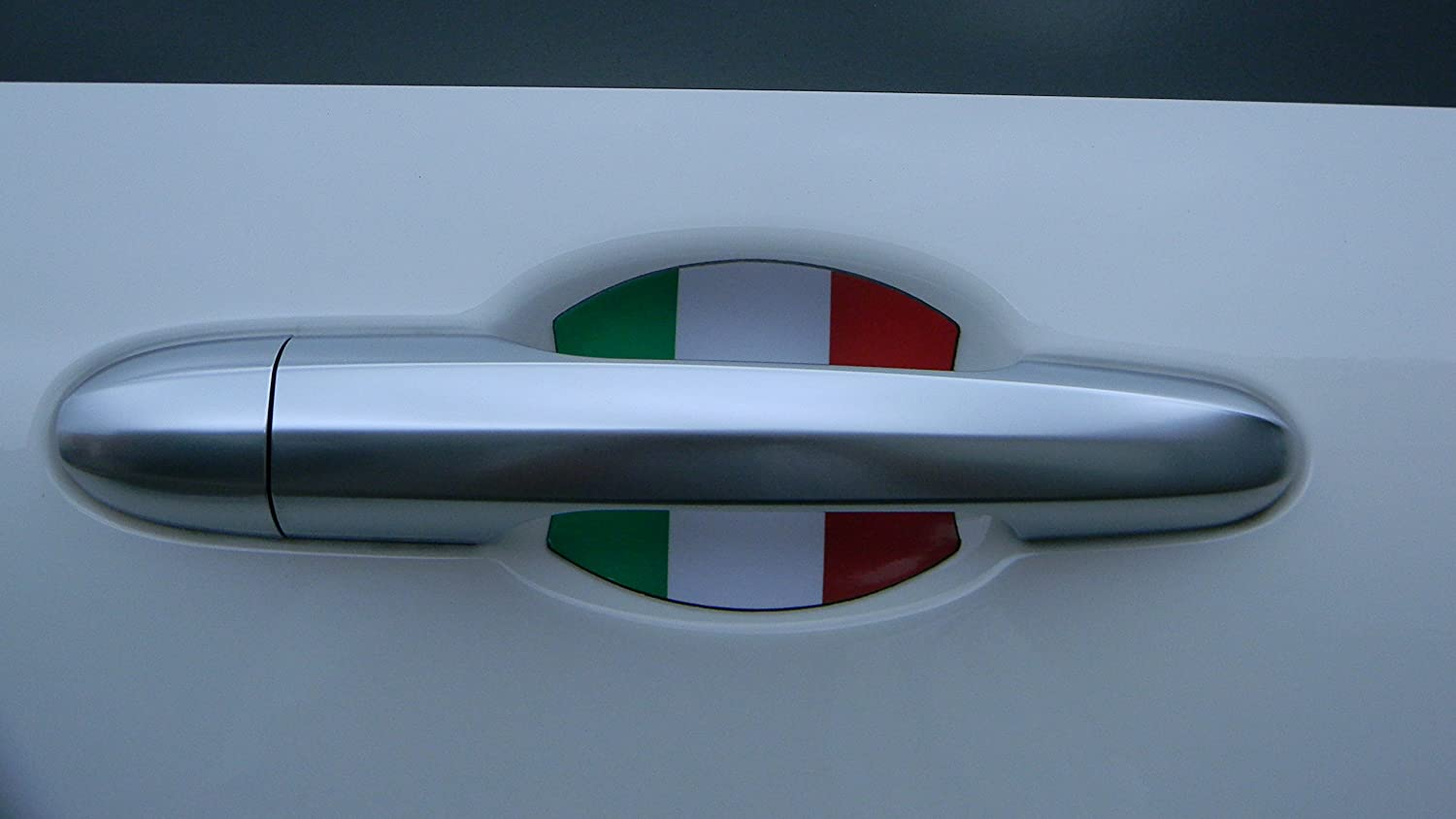 ITALIAN FLAG AUTO ACCESSORY DOOR HANDLE PAINT SCRATCH COVER GUARD FIT ALL 2PK