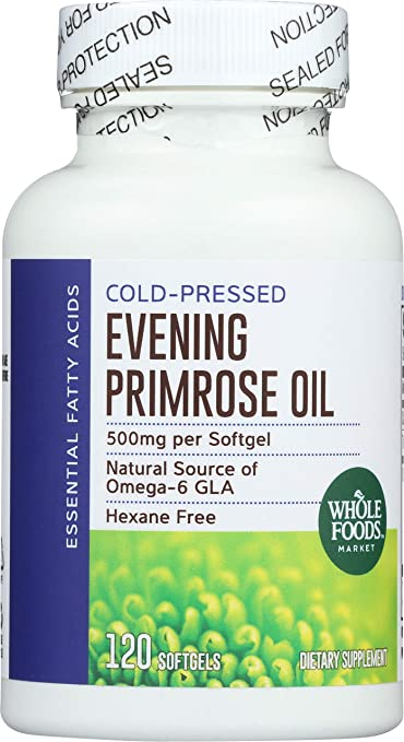 Whole Foods Market, Evening Primrose Oil 500 mg, 120 ct