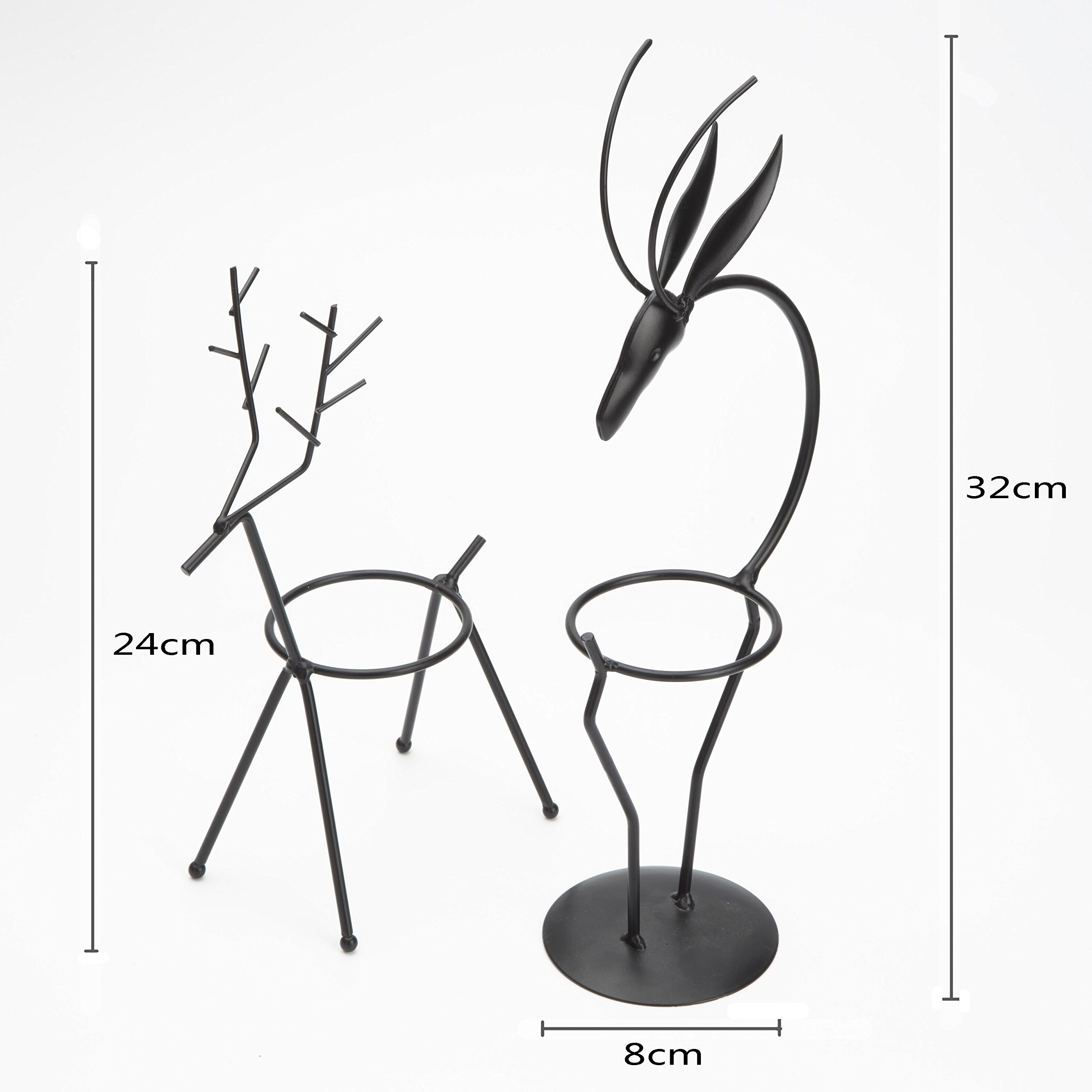 Metal Handicraft Stand Deer with European Elements Minimalist Design ,2 Pieces Deer and 2 Pieces ''Drgon Wagging Tail'' Brain Teaser Toys ,Best Gift for Kids/Adults by Like KongMing (Image #4)