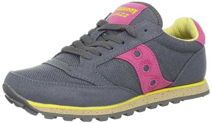 Amazon.com | Saucony Originals Womens Jazz Low Pro Vegan Running Shoe, Charcoal/Pink, 5.5 M US | Running