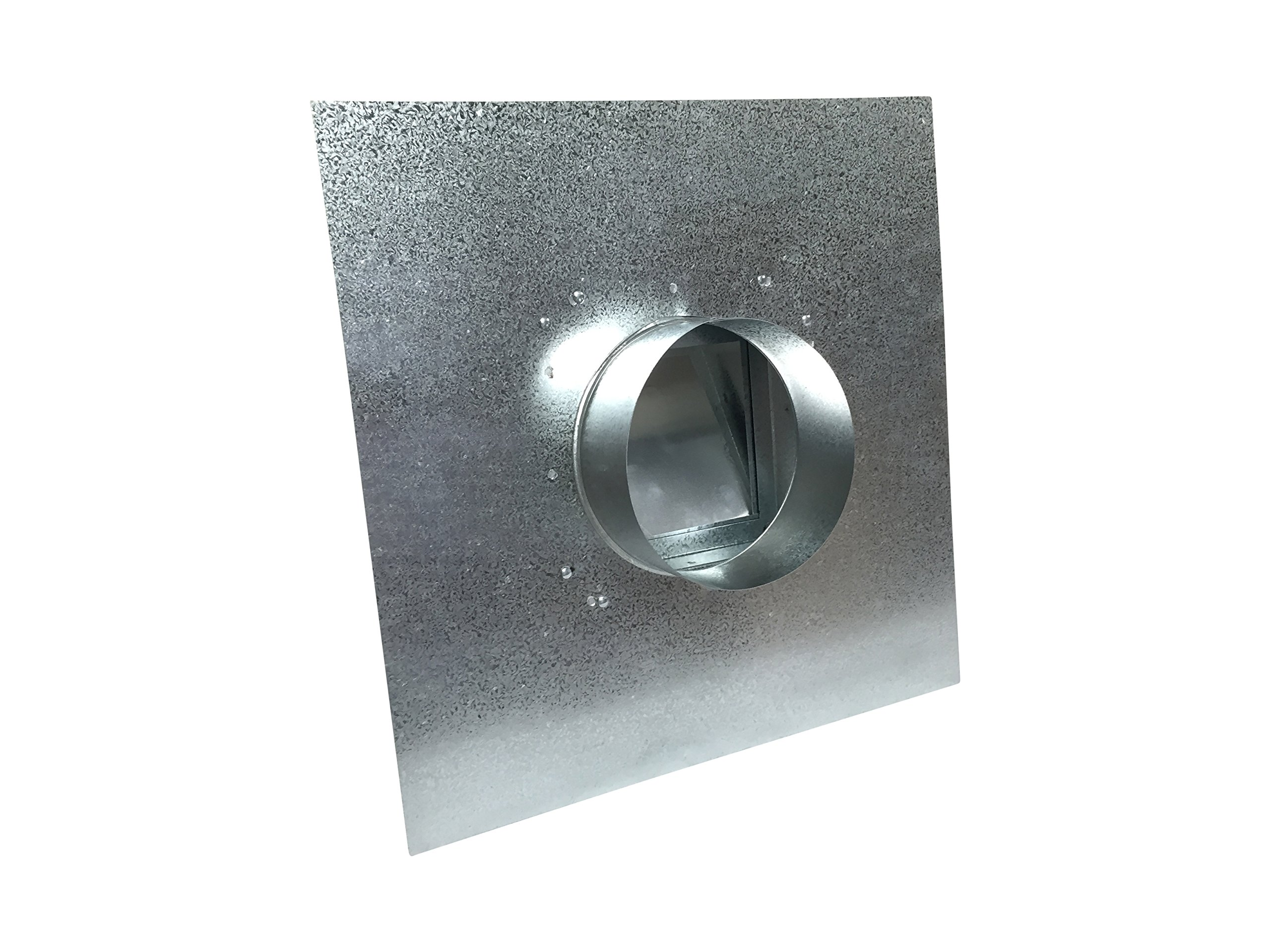 5 Inch Roof Vent Hood Cap Galvanized Damper & Screen - Vent Works by Vent Works (Image #3)