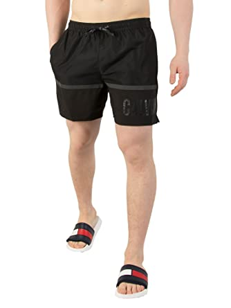 075d4c67f0 Calvin Klein Men's Medium Drawstring Swim Shorts, Black, Small ...