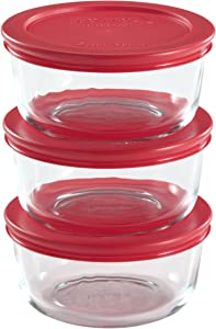 Pyrex 6-Piece 2-Cup Glass Food Storage Set with Lids