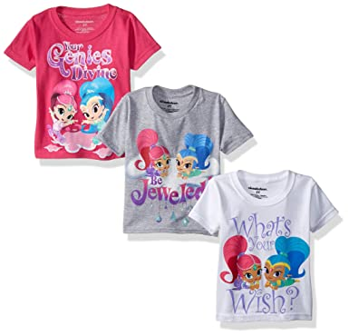 4caad98e91b Amazon.com: Nickelodeon Shimmer and Shine Girls' Value Pack T-Shirt ...
